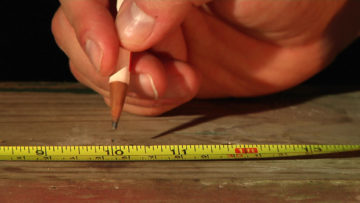 tape measure with hand